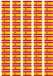 Spain Flag Stickers - 65 per sheet
